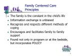 family centered care principles