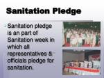 sanitation pledge