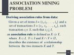 association mining problem