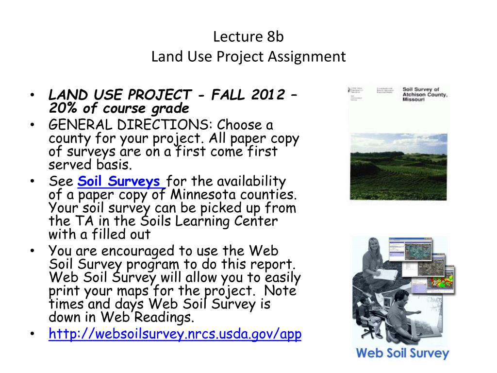 lecture 8b land use project assignment l.