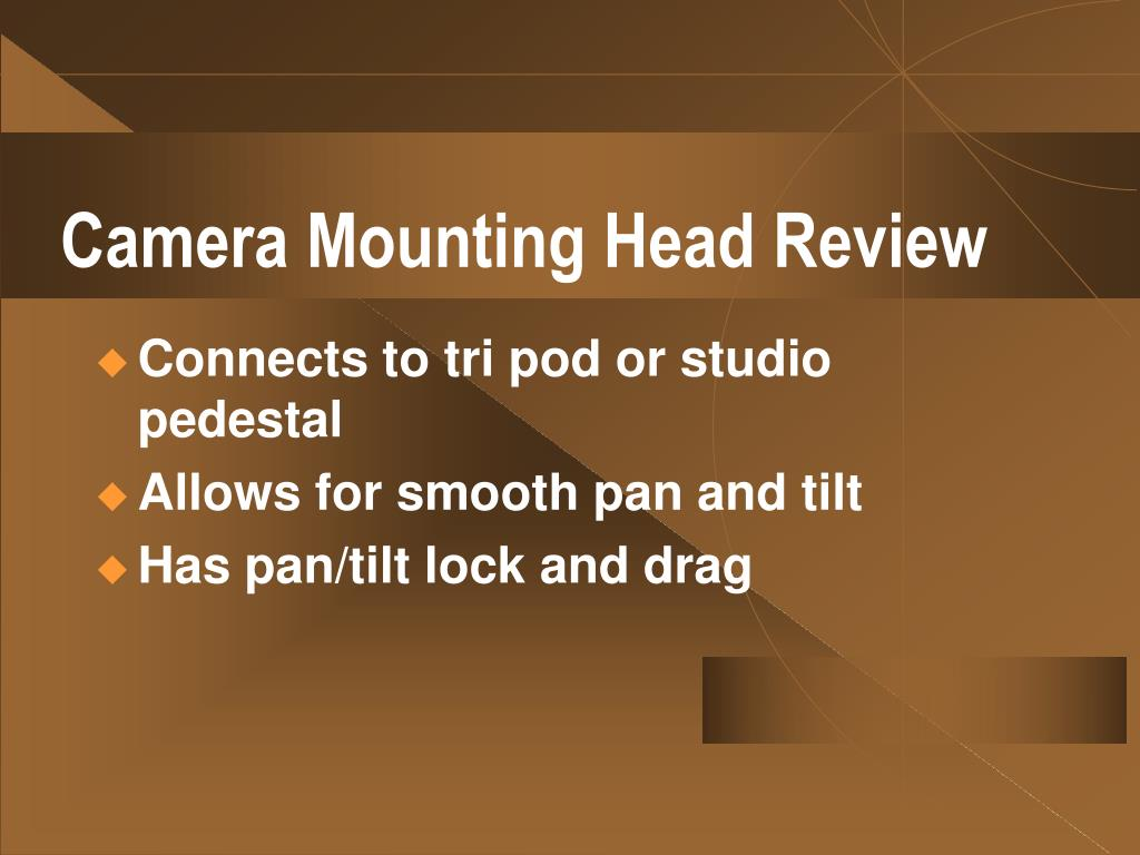 Camera Mounting Head Review