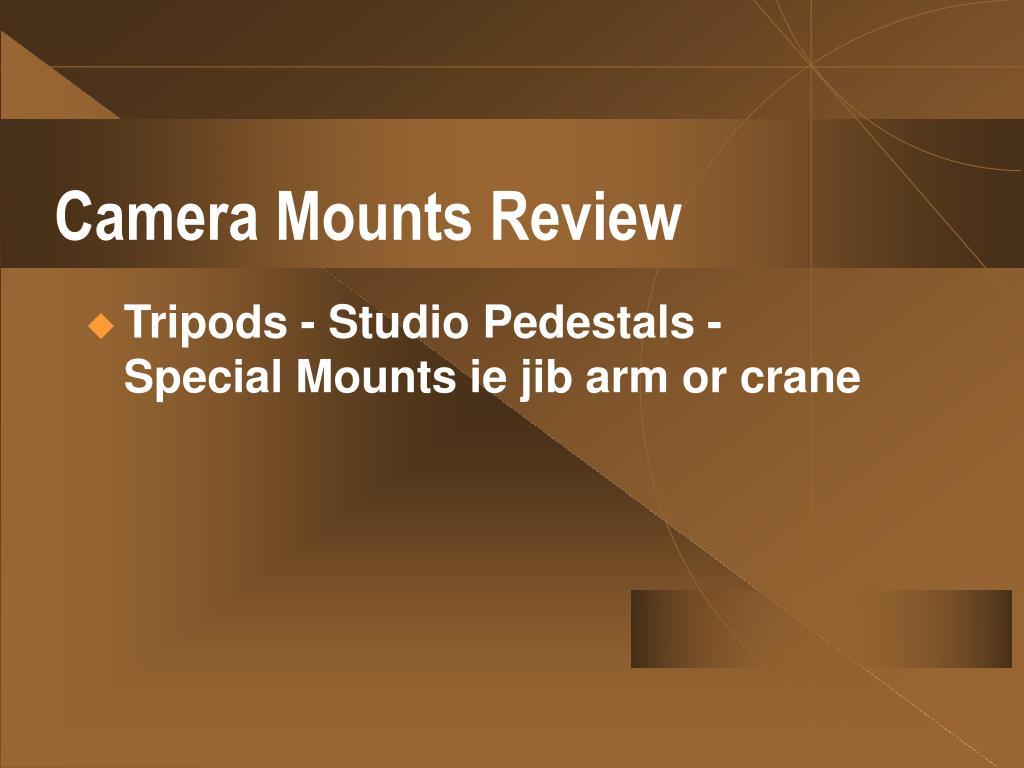 Camera Mounts Review