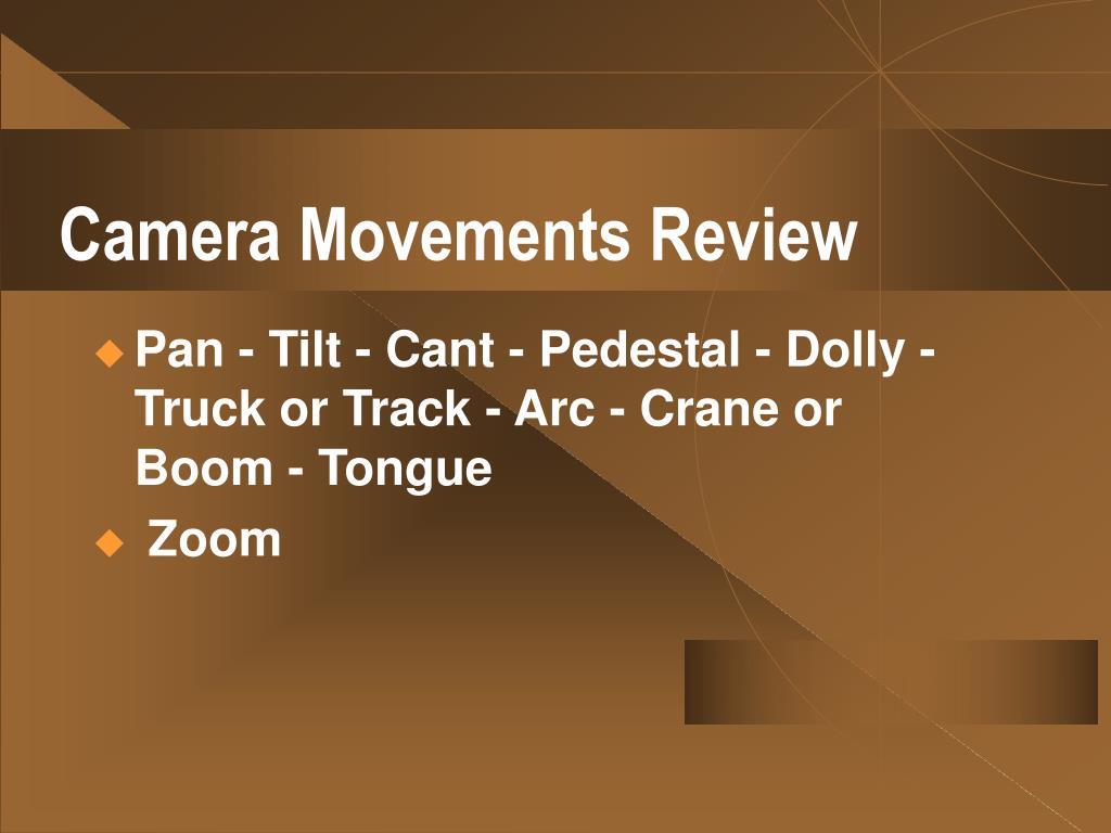 Camera Movements Review