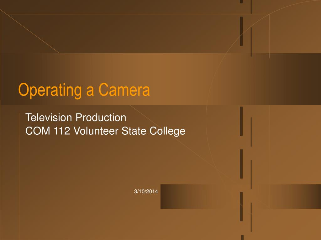 operating a camera l.