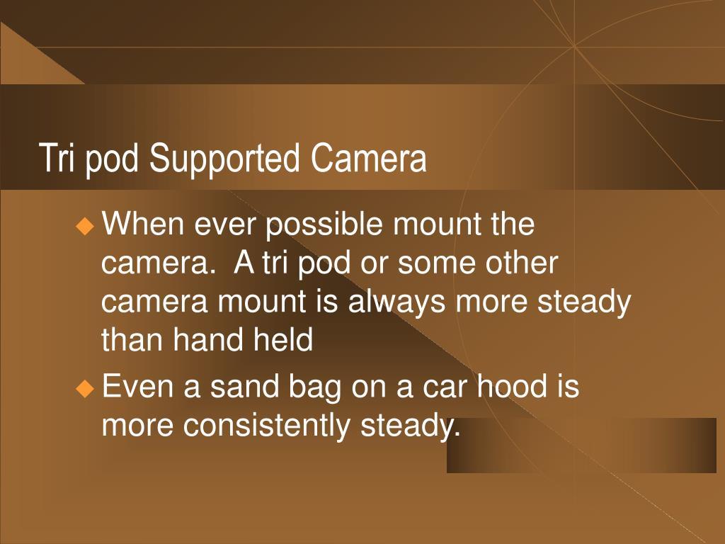 Tri pod Supported Camera