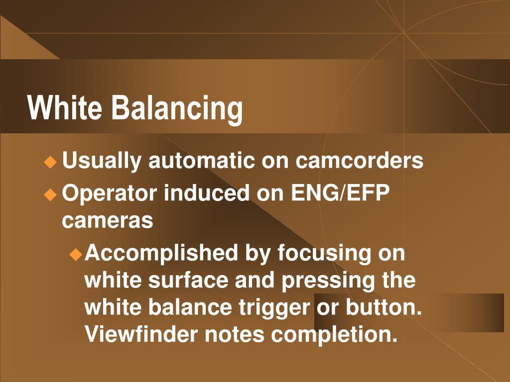 White Balancing