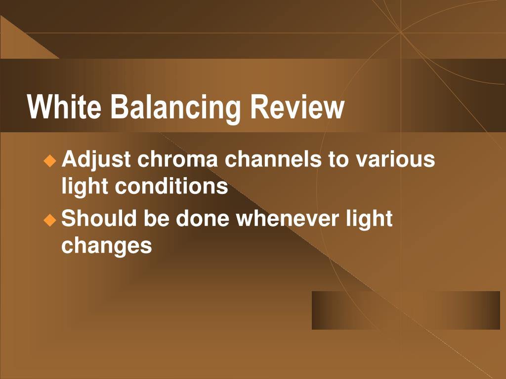 White Balancing Review