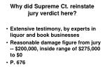 why did supreme ct reinstate jury verdict here14