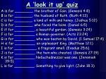 a look it up quiz
