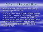duties and responsibilities15