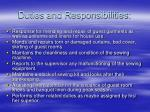 duties and responsibilities23