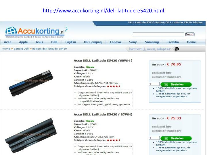 http www accukorting nl dell latitude e5420 html n.