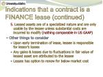 indications that a contract is a finance lease continued