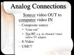 analog connections