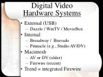 digital video hardware systems