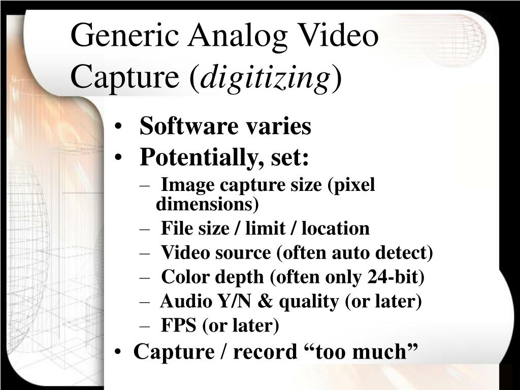Generic Analog Video Capture (