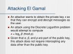 attacking el gamal