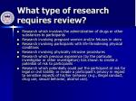 what type of research requires review