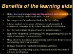benefits of the learning aids