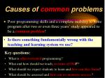 causes of common problems