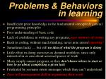 problems behaviors in learning