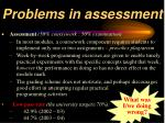 problems in assessment