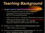 teaching background