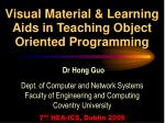 visual material learning aids in teaching object oriented programming