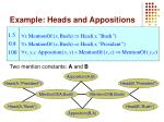example heads and appositions16
