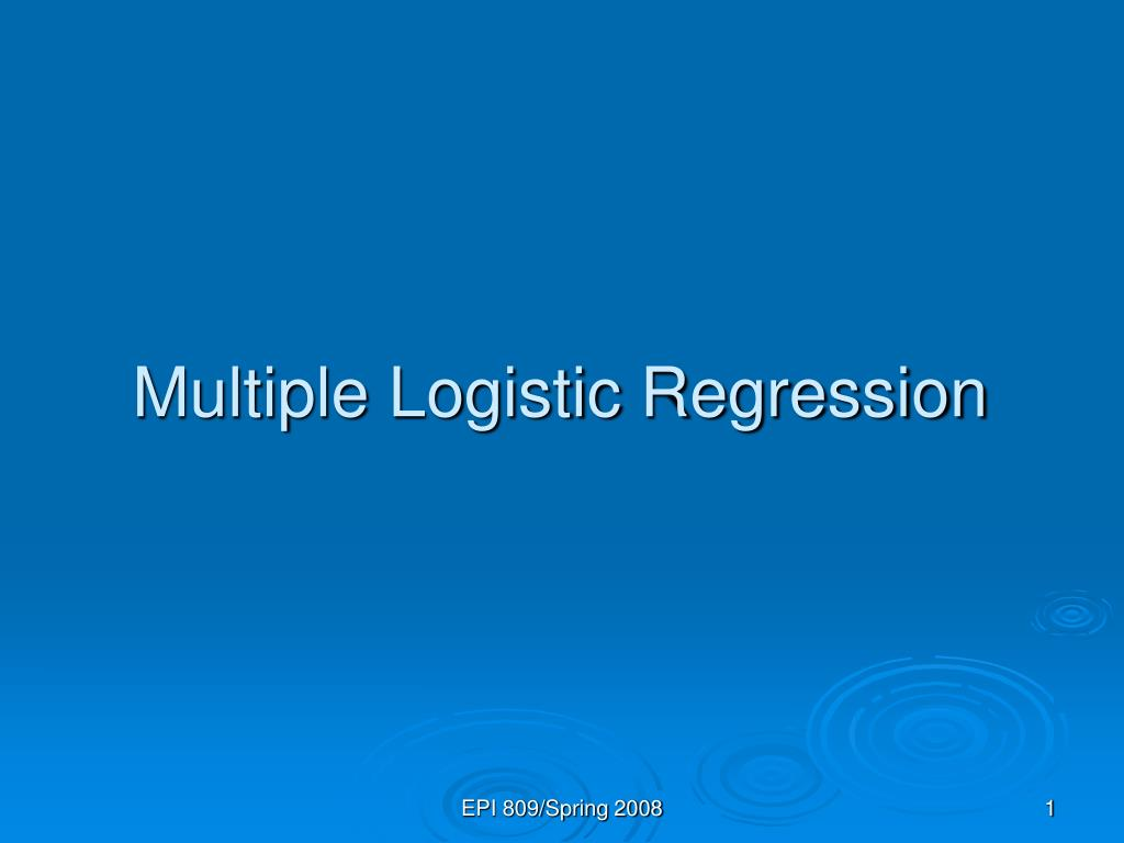 multiple logistic regression l.