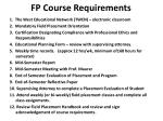 fp course requirements