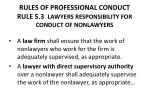 rules of professional conduct rule 5 3 lawyers responsibility for conduct of nonlawyers