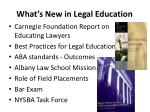 what s new in legal education
