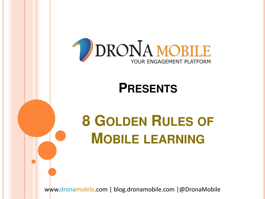 presents 8 golden rules of mobile learning l.