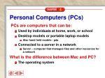 personal computers pcs