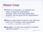 mission creep