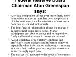 federal reserve board chairman alan greenspan says