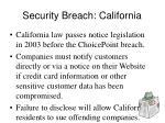 security breach california
