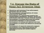 7 4 discuss the state of texas jail diversion ideal
