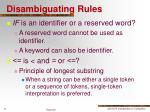 disambiguating rules