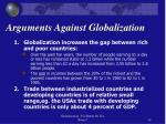 arguments against globalization