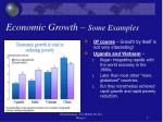 economic growth some examples
