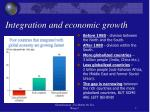integration and economic growth
