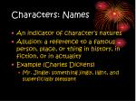 characters names