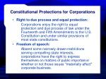 constitutional protections for corporations