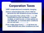 corporation taxes