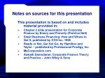 notes on sources for this presentation