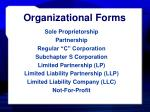 organizational forms