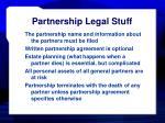 partnership legal stuff