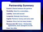 partnership summary